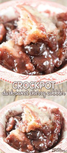 Are you a fan of dark sweet cherries? Our Crock Pot Dark Sweet Cherry Cobbler is…