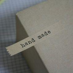 hand made kraft label sticker set by nothing elegant.