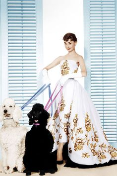 The golden age of Hollywood: Audrey Hepburn in the famous Givenchy gown from SABRINA. Edith Head is credited as the costume designer for this film, but Givenchy designed most of the clothes, including this gown. Audrey Hepburn Outfit, Audrey Hepburn Mode, Audrey Hepburn Photos, Audrey Hepburn Sabrina Dress, Audrey Hepburn Givenchy, Audrey Hepburn Fashion, Audrey Hepburn Wedding Dress, Golden Age Of Hollywood, Classic Hollywood