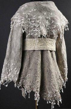 Celia Mikkelsen, gray felted jacket