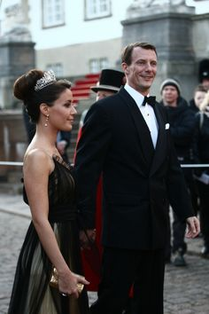 Princess Marie wore this tiara for a private dinner to celebrate Queen Margrethe II of Denmark's 70th Birthday in April 2010.