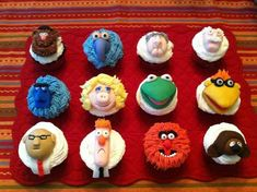 Muppets characters cupcakes | Craftsy