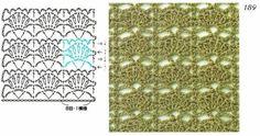 Crochet stitch Esquema Diagrama Patrón Ganchillo Crochet