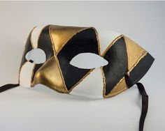 Halloween Masks Black Male Mens Venetian by CamillaLimon on Etsy, $35.00