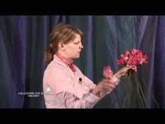 //Flower Design tips on BASIC EUROPEAN HAND-TIE - YouTube #flower #arrangement #video