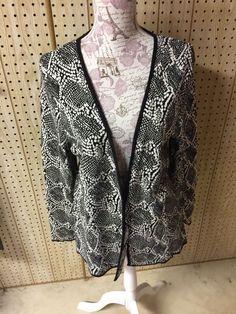 Dana Buchman NWT Women s Black White Cardigan Sweater Size XL  DanaBuchman   Cardigan  anyOccasion 46380d85b