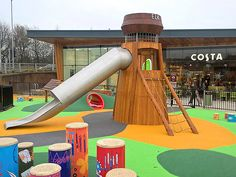 Elk Mill Retail Park, Oldham-  Historical themed play area on site of cotton mill