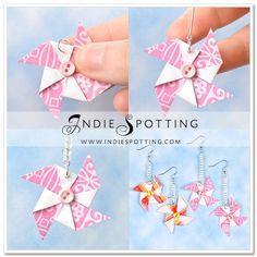 Cute pinwheel flowers to make {minus the earring part}