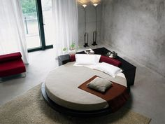 31b9f061c19e84 Das runde Bett dient zur originellen und kreativen Einrichtung des  Schlafzimmers