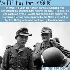 The unluckiest soldier in history - WTF fun facts - didyouknow.abafu....