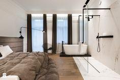sypialnia z lazienką - zdjęcie od Nasciturus design