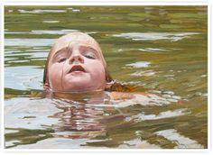 """""""Head Above Water 2"""" Paintings by Laura Sanders"""
