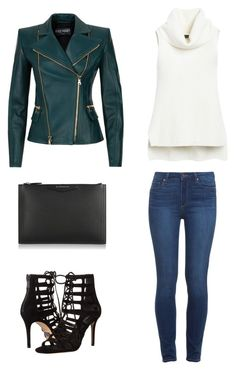 """""""Untitled #2"""" by the-uncool-collective on Polyvore featuring Balmain, White House Black Market, Paige Denim, Givenchy and Michael Kors"""