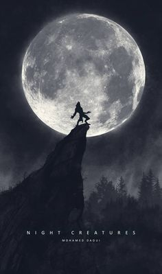 Night Creatures by DarknesFreak on DeviantArt Werewolf Vs Vampire, Werewolf Art, Mythical Creatures Art, Fantasy Creatures, Dark Fantasy Art, Dark Art, Wolf Wallpaper, Moon Photography, Creatures Of The Night