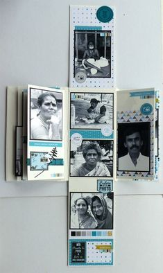 MPIDS12 Album Photo Scrapbooking, Mini Albums Scrapbook, Scrapbook Journal, Scrapbook Sketches, Scrapbook Layouts, Mini Album Scrap, Leaving Presents, Baby Journal, Baby Album
