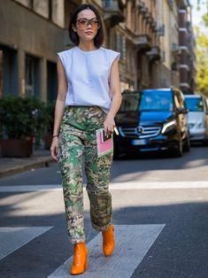 How To Wear Camo Prints Like A Street Style Star