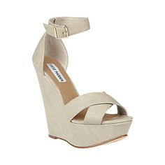 Shop Xenon Suede Wedges Womens Dress Shoes From Steve Madden