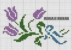 Here you can look and cross-stitch your own flowers. Mini Cross Stitch, Cross Stitch Borders, Cross Stitch Rose, Cross Stitch Flowers, Cross Stitch Charts, Cross Stitch Designs, Cross Stitching, Cross Stitch Embroidery, Embroidery Patterns
