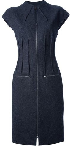 FENDI Zipped Dress - Lyst