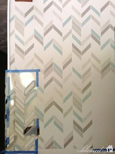 how to stencil a wall wallpaper look a like, paint colors, painting, wall decor, The stencil is bendable and easy to fudge in awkward spots