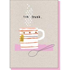 tea fear, illustration, design, typewriter font, collage, stop the clock, design, print, pattern, greeting card, everyday
