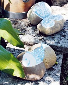 Fun times with the kids, painting rocks for the garden!