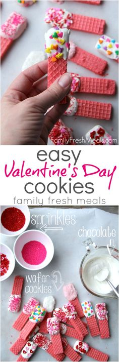 Super Easy Valentine's Day Cookies Recipe - from FamilyFreshMeals.com #valentinesday