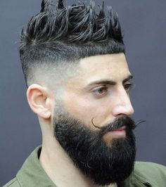 Cropped haircuts with beard