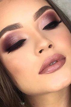 Lipstick Beauty: 35 Free For Spring And Summer Liquid Lipps Try Now New 2019 – Page 13 of 36 – eeasyknitting. com Make-up Lippen; Make-up Lippenstift; Make-up Lippen natürlich; Make-up Lippen Tutorial; Make-up Lippen matt; Purple Eye Makeup, Makeup Eye Looks, Glam Makeup, Eyeshadow Makeup, Bridal Makeup, Purple Makeup Looks, Party Makeup, Makeup With Purple Dress, Purple Wedding Makeup