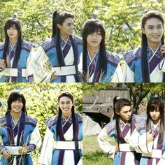 Taehyung and Jihan ❤ Behind the scenes of Hwarang photos (from Jihan's blog on Naver) #BTS #방탄소년단