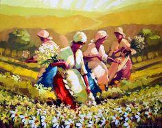 cuadros-de-mujeres-campesinas-recogiendo-flores