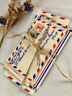 Red, White and Blue Ephemera/ Vintage Patriotic Paper/ American Theme/ Handwritten Used Envelopes and Postcards Mail Art Envelopes, Cute Envelopes, Letter To Future Self, Aesthetic Letters, Old Letters, Interactive Cards, Handwritten Letters, Vintage Lettering, Photography Projects
