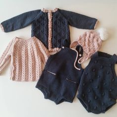 «Føle meg veldig kreativ i far Knitting For Kids, Baby Knitting Patterns, Baby Girl Fashion, Kids Fashion, Pull Bebe, Knitted Baby Clothes, Baby Pants, Baby Sweaters, Baby Wearing