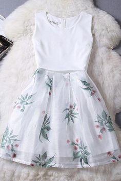 Summer Sleeveless Chiffon Organza D Cute Casual Outfits, Casual Dresses, Short Dresses, Formal Dresses, Dress Outfits, Girl Outfits, Fashion Dresses, Pretty Dresses, Beautiful Dresses