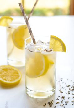 Lavender Lemonade. Easy, beautiful and refreshing! Perfect Mother's Day brunch, bridal shower, or baby shower drink.