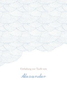 Taufeinladung Träumerei by Tomoë für Rosemood.de #Taufkarte #Einladungskarte #Taufe