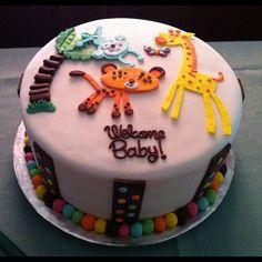 Cutest cake for @veedm's animal themed baby shower for TLD » @_kezm » Instagram Profile » Followgram