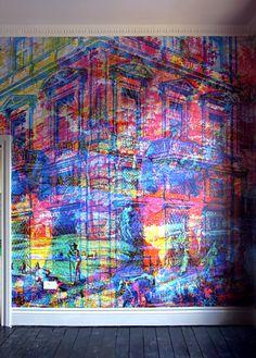 Carnovsky's RGB Murals. A GREAT idea for a backdrop.