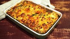 Chiles Rellenos Casserole Recipe | The Chew - Could use canned green chiles instead of fresh.