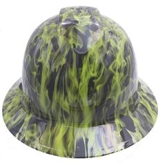 Best custom hydrographic hydro dipped badass hard hats on the market Hard Hats, Bad To The Bone, Cover Design, Wicked, Safety, Stylish, Unique, Green, Free Shipping