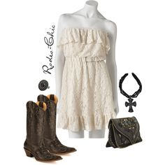 Designer Clothes, Shoes & Bags for Women Country Girl Style, Country Fashion, Country Outfits, Cute Fashion, Fashion Ideas, Girl Fashion, Western Dresses, Western Wear, Chic Dress