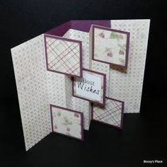 I have a fabulous display card to share with you today, featuring five little flags that project from the centre of the card, giving it it'...
