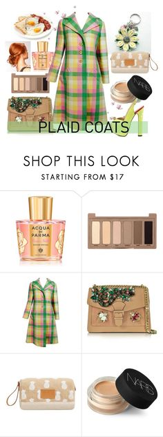 """Plaid Coats"" by airin-flowers ❤ liked on Polyvore featuring Acqua di Parma, Urban Decay, Bill Blass, GEDEBE, MANGO, NARS Cosmetics, TaylorSays, MothersDay, accessories and coats"