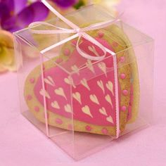 3x3 Clear Favor Box- Set of 25