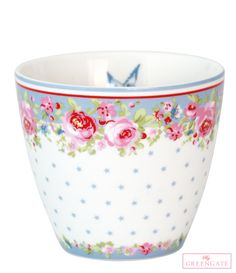 Greengate latte cup Simone blue