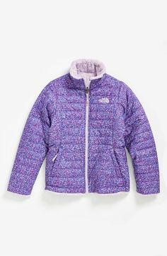 The North Face 'Mossbud Swirl' Reversible Water Resistant Jacket (Big Girls) | Nordstrom