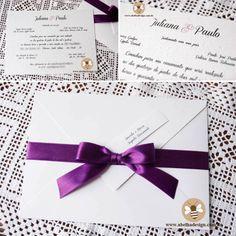 Convite clássico em papel semente