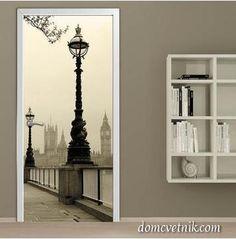 декор своими руками для дома, декор стен, интерьер, фотообои на дверь, купить фотообои в интернет магазине, фотообои в интерьере,