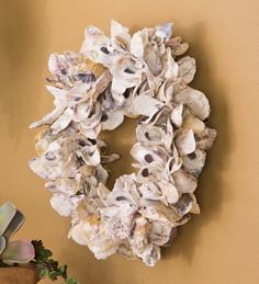 Natural Oyster Shell Wreath