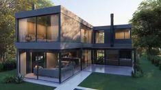 Modern House Facades, Modern Architecture House, Architecture Design, Modern Villa Design, Classic Building, Luxury Homes Dream Houses, Facade House, Exterior Design, Home Fashion